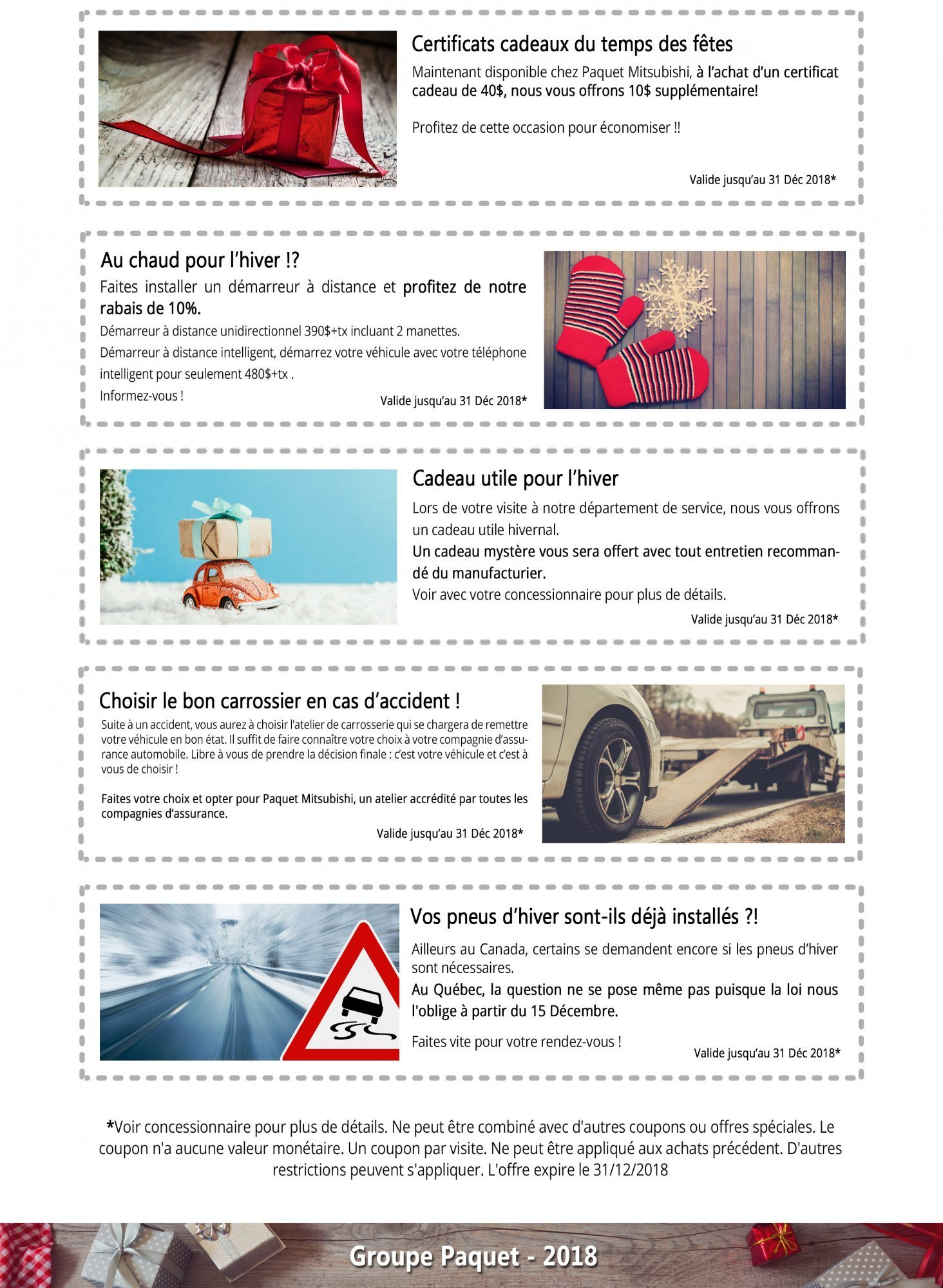 Mentionnez Et Prsentez La Promotion De Votre Choix Lquipe Paquet Mitsubishi Afin Den Profiter